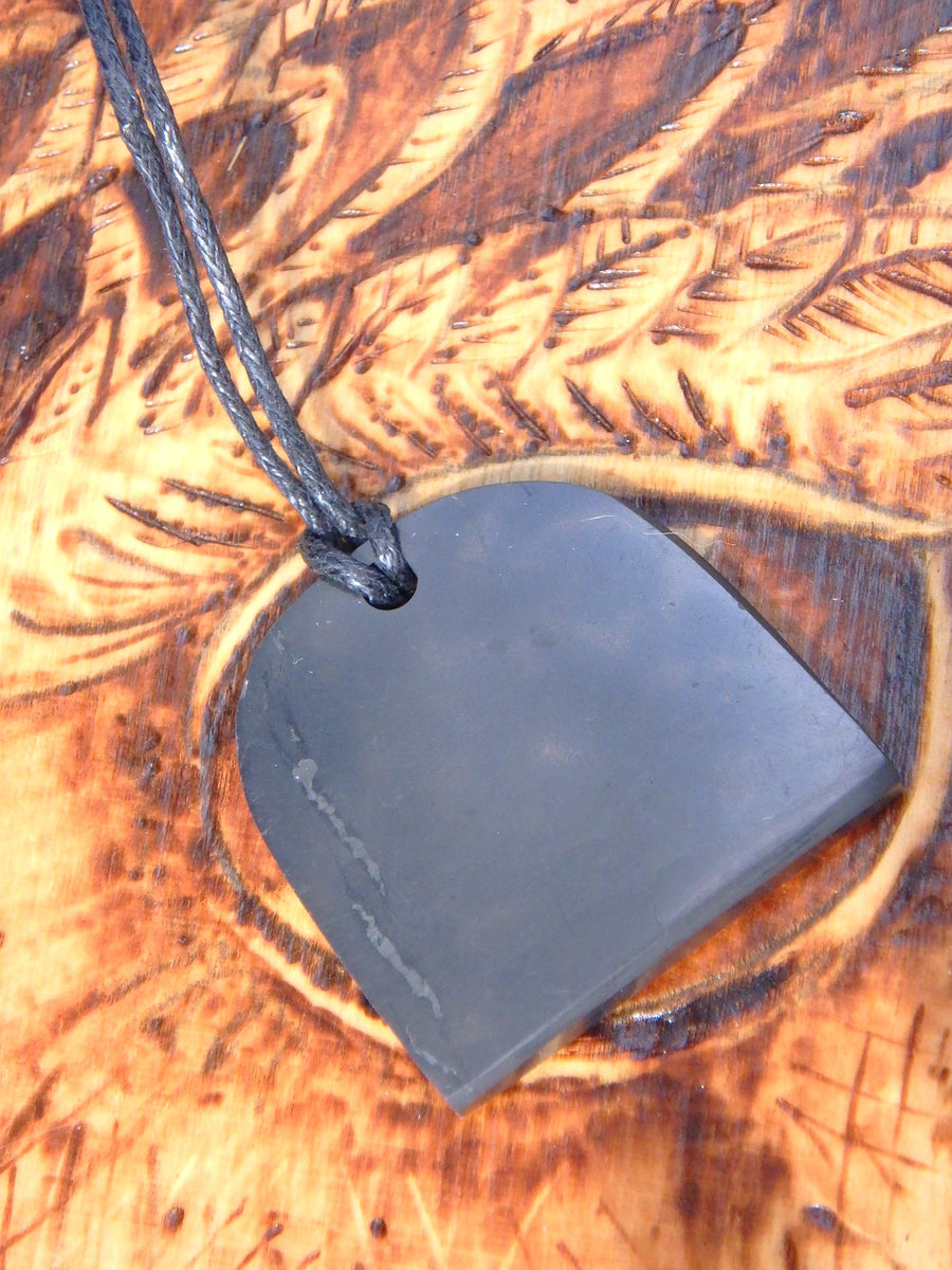 EMF Protection Shungite  Pendant on Cotton Cord 1