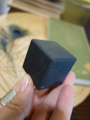 EMF Protection! Russian Shungite Cube Carving (REDUCED) - Earth Family Crystals