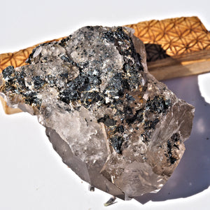 Incredible Natural Smoky Elestial With Black Rutilated Hematite Inclusions From Brazil