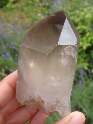 Incredible Elestial Smoky Quartz Point From Brazil 1