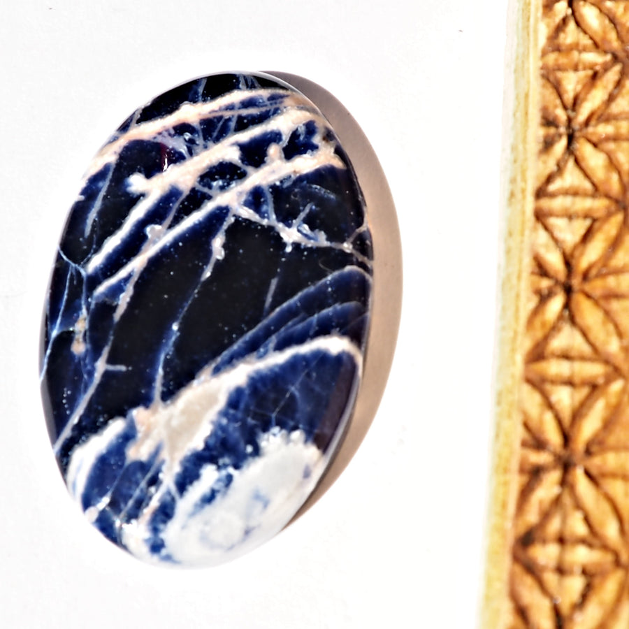 Deep Blue Sodalite Cabochon Carving Ideal for Crafting