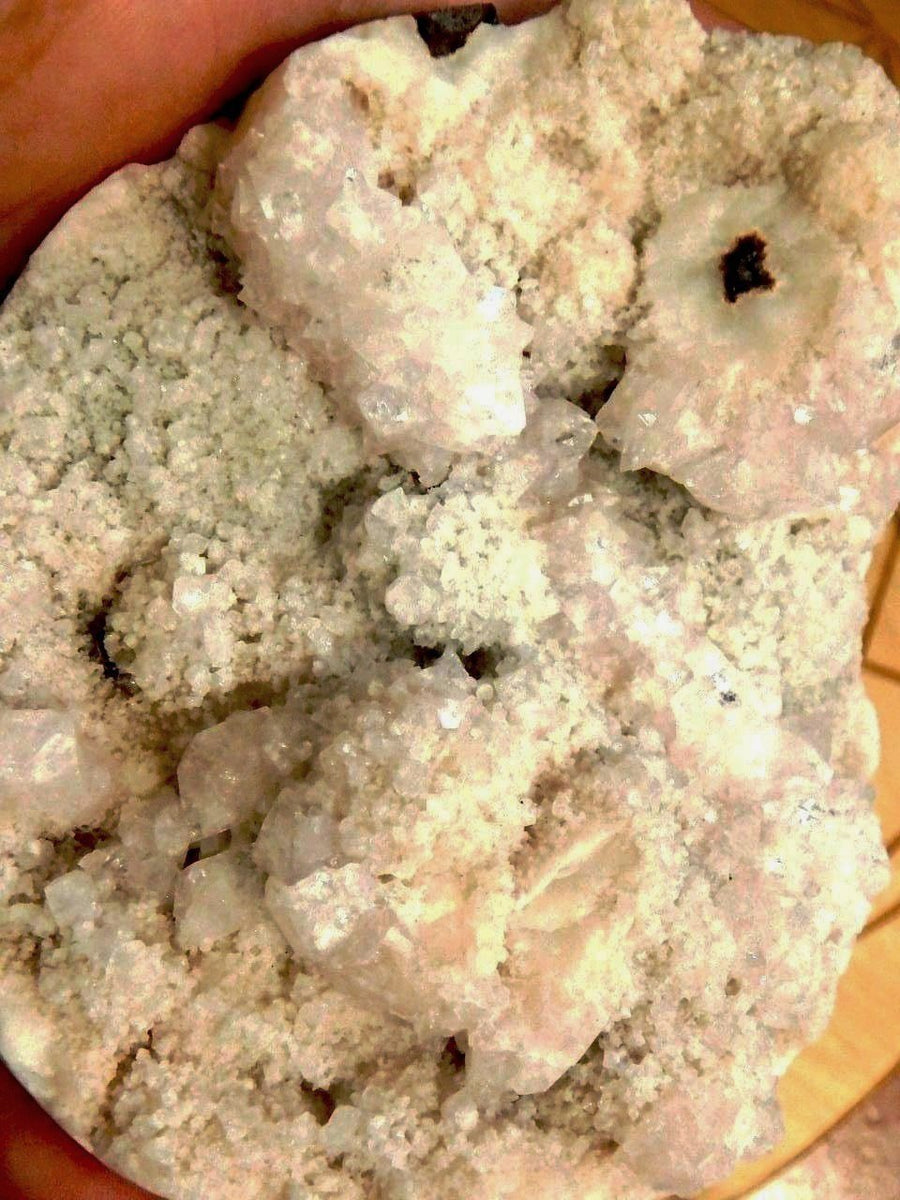 Perfect Display Piece! Creamy Pink Stilbite & Clear Apophyllite - Earth Family Crystals