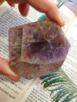 Partially Polished Super 7 Slice With Caves - Earth Family Crystals