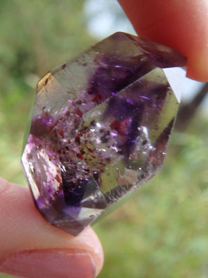Gorgeous Inclusions Polished DT Super 7 Collectors Specimen - Earth Family Crystals