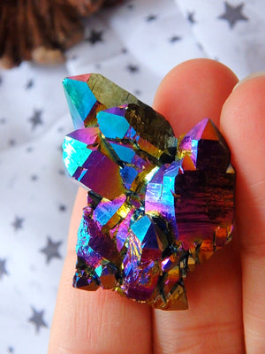 Glimmering Spaceship Cluster of Titanium Quartz From Arkansas