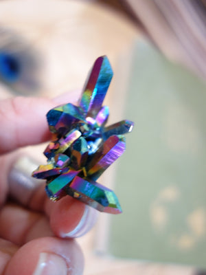Fantastic Self Healed and Rainbow Points Titanium Quartz Cluster Specimen - Earth Family Crystals