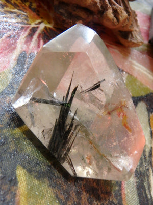 Polished Tourmalated Himalayan Quartz Free Form Specimen 1 - Earth Family Crystals