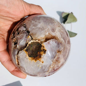 Outrageously Gorgeous ~High Grade XXL Large Pink Amethyst Druzy Geode Sphere