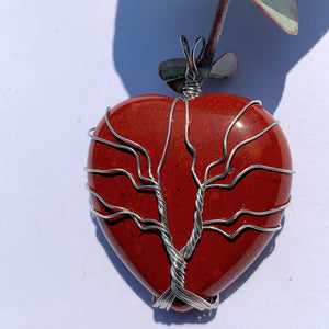 Red Jasper Tree of Life Wire Wrapped Pendant #1