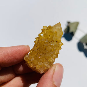 Natural Golden Citrine Spirit Quartz Specimen From South Africa #2 - Earth Family Crystals