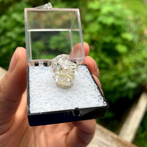 Brilliant Clarity New York Herkimer Diamond Quartz Specimen in Collectors Box #4
