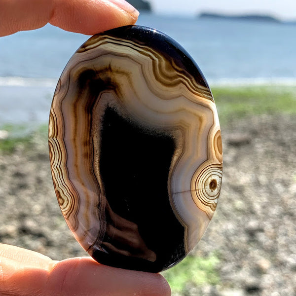 Incredible Patterns Chunky Agate Cabochon Ideal for Crafting
