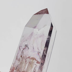 2 Moving Rare Enhydro Water Bubbles~ Brandberg Quartz Point With Light Purple Natural Tint from Namibia - Earth Family Crystals