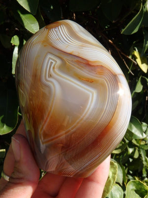 Absolutely Stunning Swirling Patterns Agate Standing Specimen - Earth Family Crystals