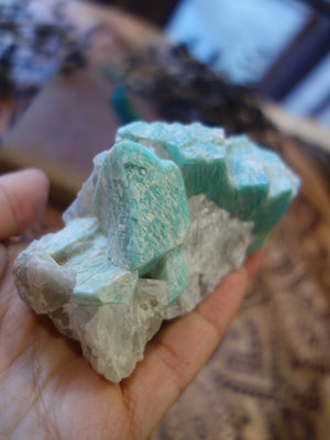 Famous Locality! Stunning Raw Amazonite Cluster from Colorado - Earth Family Crystals