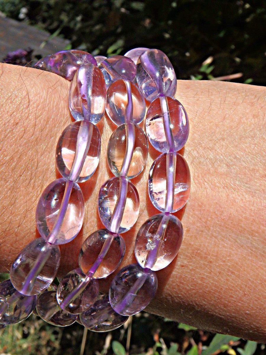 Brilliant Lavender Purple Amethyst Stretchy Bracelet - Earth Family Crystals