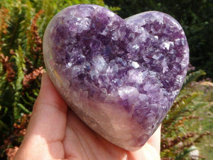 Absolutely Gorgeous Amethyst Geode Heart Specimen - Earth Family Crystals
