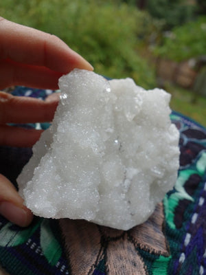 Angel Glitter~White Druzy Apophyllite Cluster From India - Earth Family Crystals