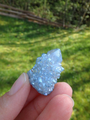 Adorable Mini Aqua Aura Spirit Quartz Point 2 - Earth Family Crystals