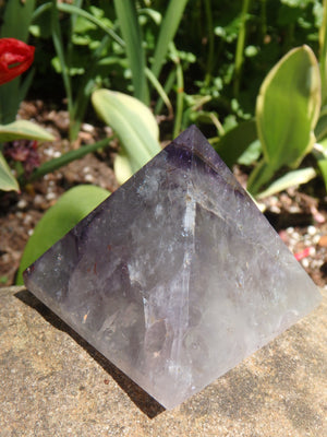 Gorgeous Polished Auralite-23 Pyramid Carving From Canada