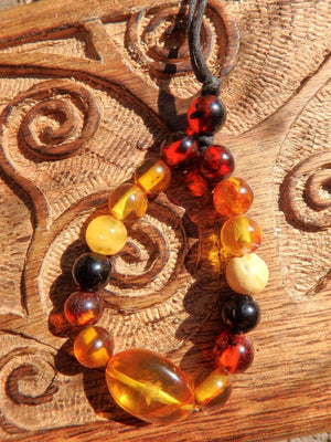 Brilliant Glow Genuine Baltic Amber Statement Necklace - Earth Family Crystals