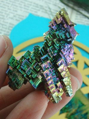 Galactic Rainbow Bismuth Formation From Germany - Earth Family Crystals