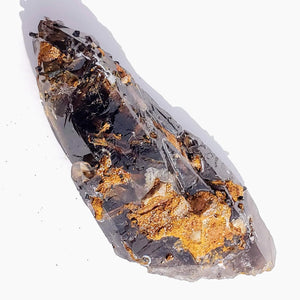 Unusual Natural Chocolate Brown Smoky Quartz With Aegirine & Feldspar Inclusions From Malawi - Earth Family Crystals