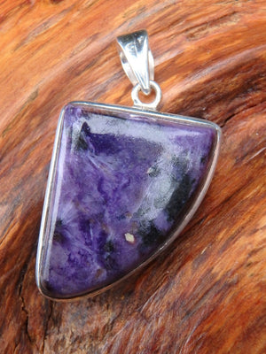 Reserved For Danielle G . Divine Deep Purple Charoite Pendant In Sterling Silver  (Includes Silver Chain) - Earth Family Crystals