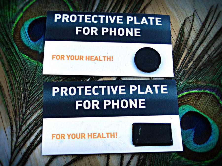 SHUNGITE EMF Protective Cell Phone Chips (Circle & Rectangle) - Earth Family Crystals