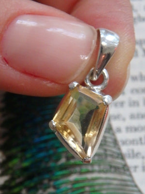 Sunny Faceted Dainty Citrine Gemstone Pendant In Sterling Silver (Includes Silver Chain) - Earth Family Crystals