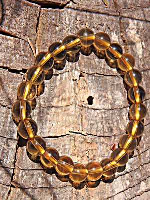 Natural Sunny Golden Citrine Stretchy Bracelet - Earth Family Crystals