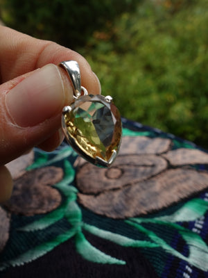 Healing Faceted Citrine Pendant In Sterling Silver (Includes Silver Chain) * (REDUCED) - Earth Family Crystals