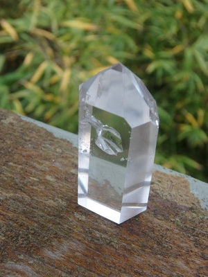 Ice Water Clear Quartz Small Generator With Inner Child & Cave - Earth Family Crystals