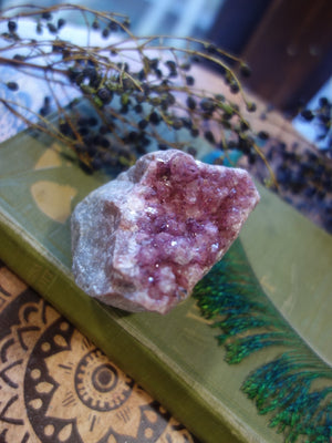 Vibrant Pink Druzy Cobaltine Calcite Natural Specimen - Earth Family Crystals