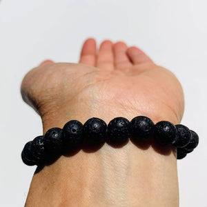 Lava Stone Bracelet Ideal for Essential Oils