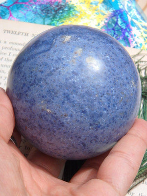 Amazing Blue Dumortierite Sphere - Earth Family Crystals