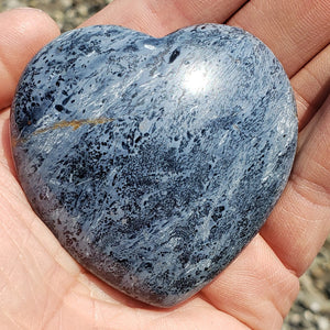 Rare Incredible Silky Patterns Large Pietersite Heart Carving from Namibia #2
