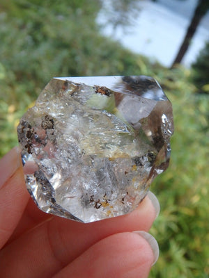 Slightly Smoky Natural NY Herkimer Diamond Quartz Specimen - Earth Family Crystals