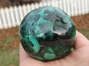 Large Deep Green MALACHITE SPHERE From The Congo* - Earth Family Crystals
