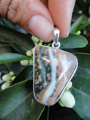 OCEAN JASPER PENDANT In Sterling Silver (Includes Free Silver Chain)* - Earth Family Crystals