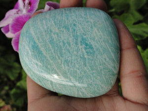 AMAZONITE PALM STONE~ Stone of Enhancing loving communication,Prosperity, Healing* - Earth Family Crystals