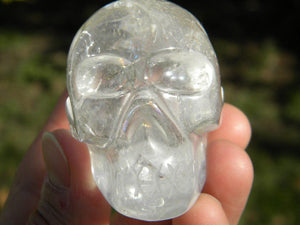 CLEAR QUARTZ Crystal Skull from Brazil* - Earth Family Crystals