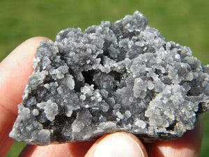 Sparkly BLACK CHALCEDONY CLUSTER* - Earth Family Crystals