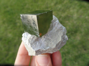Amazing Natural Pyrite Cube in Matrix* - Earth Family Crystals