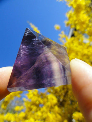 Glowing Rainbow FLUORITE PYRAMID* - Earth Family Crystals