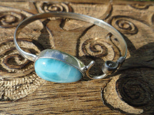 Amazing High Quality LARIMAR BRACELET In Sterling Silver* - Earth Family Crystals