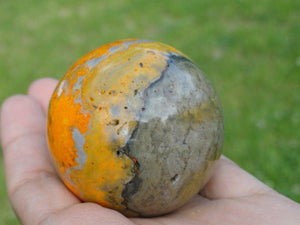 Amazingly Vibrant BUMBLE BEE JASPER Sphere * - Earth Family Crystals