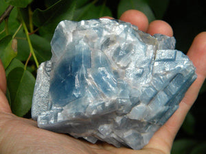 Chunky Deep BLUE CALCITE Free-form Specimen From Mexico* Hippie Healing Reiki Magic throat Chakra - Earth Family Crystals
