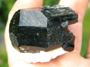 Incredible Terminated BLACK TOURMALINE On Feldspar Matrix* Magic Reiki Hippie Healing - Earth Family Crystals