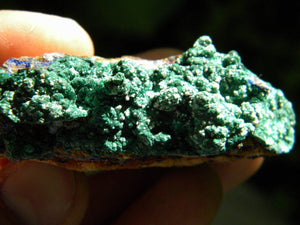 Silky Green MALACHITE With Sprinkles of Blue AZURITE on Matrix* Hippie Healing Reiki Magic - Earth Family Crystals
